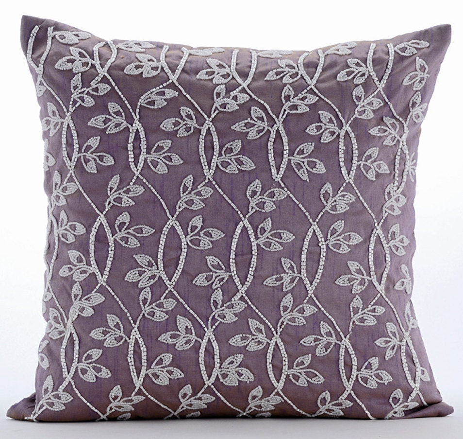 Luxury Silk Throw Pillows : Luxury Purple Throw Pillow Covers 16x16 Silk