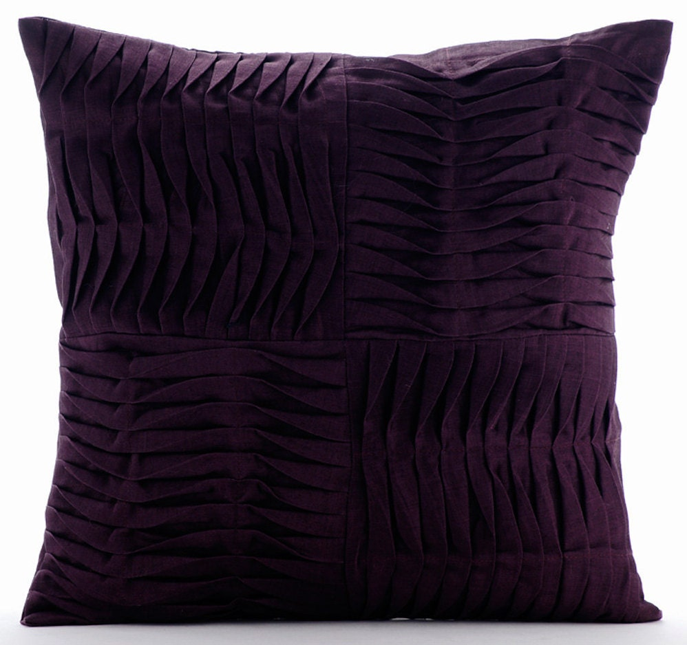 Throw Pillow Covers Purple : Designer Purple Throw Pillow Covers 16x16 Cotton