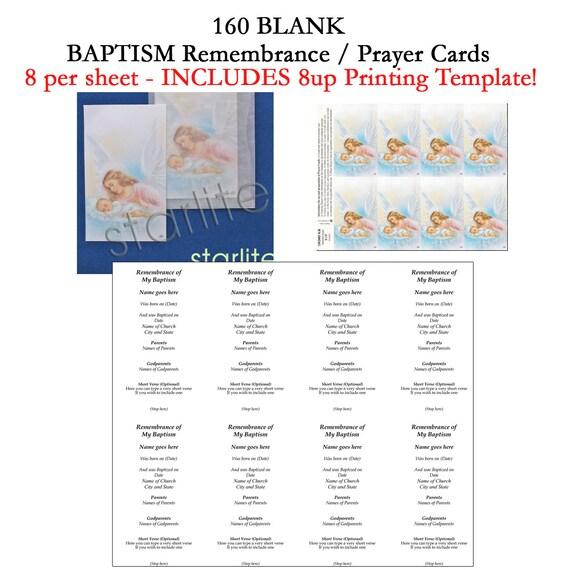 baptism remembrance cards baptism prayer cards favors