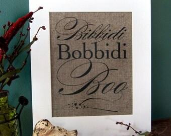 BIBBIDI BOBBIDI BOO - burlap art print