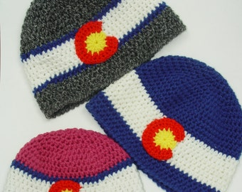 Colorado Flag Hat - adult, beanie