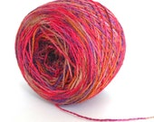 Free Shipping in USA Hand Dyed Yarn Merino Wool Silk Lace Yarn - Pomegranate