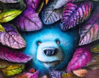 Bear Print -  Painting - Surrealism - Pop Art -