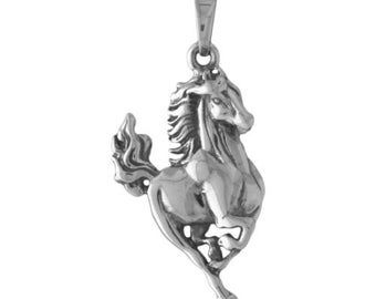 Galloping Horse Pendant Charm -- Complimentary Ribbon or Cord
