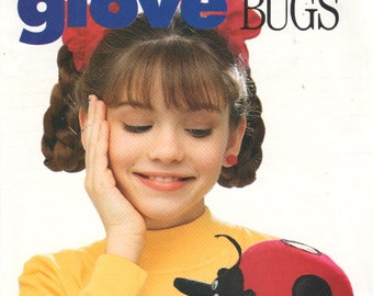 Butterick 4973 136 GLOVE BUGs Puppet Pattern LADYBUG Vintage TOY Sewing Pattern UNCuT