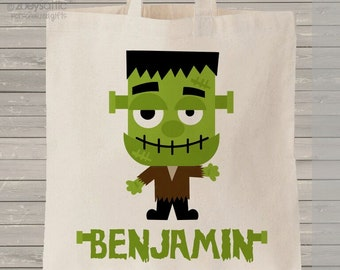 Halloween bag trick or treat Frankenstein monster bag perfect to use as a halloween bag to collect all the candy MBAG1-024
