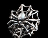Spider Ring Silver - Spider Web Ring - Spider Jewelry Spider Web Jewelry - Gothic Ring Sterling Silver Ring