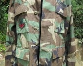 Vintage U.S. Air Force Camouflage Field Jacket With Embroidered Patches Great Condition!