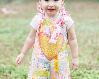 Baby Outfit - Ruffle Pants - Birthday Outfit - Photo Prop - Baby Girl Romper - Longall - Jon Jon - Sizes 6 to 18 months