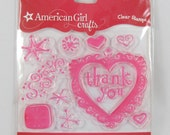American Girl Crafts Clear Stamps - Thank you Stamps - RS002