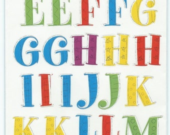 Alphabet and Number Stickers #AA250