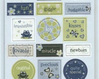 Cloud 9 Design Chipboard Accent Stickers - Baby Boy #SC005