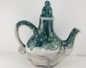 SALE! Fanciful Pottery Glazed Teapot (Sale 50%off, Coupon Code: SALE50)