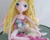 SUNSET FAIRY, the original soft sculpture Kaerie Faerie doll, handmade in the USA