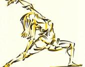 Yoga Art -- Original drawing on paper