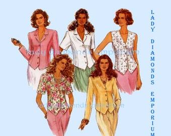 403 Simplicity 8845 Womens Tops in 5 Variations size 12 14 16 Bust 34 36 38 Princess Seams Shaped Hemline Vintage Sewing Pattern Uncut