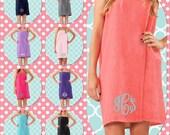 teen girls  bath  wraps   , WAFFLE wedding wraps  , embroidered spa wraps , personalized bath  towels , sorority gifts