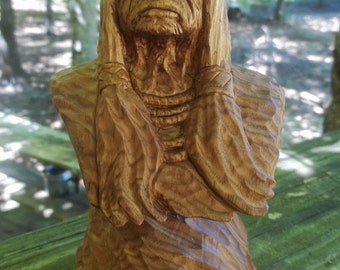 Indian warrior carving