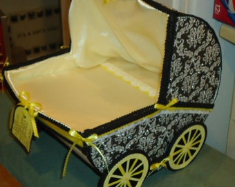 Baby Carriage centerpiece ,Unique Baby Shower Centerpiece, Baby Shower Decor,Baby Carriage, MADE TO ORDER