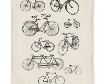 Vintage Bikes Kitchen Towel