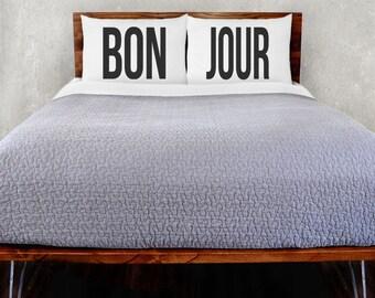 Bon Jour Pillowcase Set