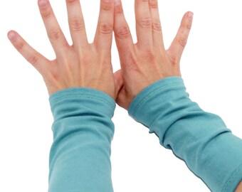 Arm Warmers in Aquamarine Dream - Fingerless Cuffs - LAST PAIR