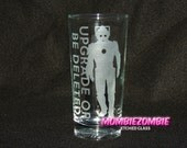 """Doctor Who Cybermen """"Upgrade or Be Deleted"""" Etched Glass"""
