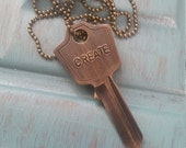 Vintage Key Necklace CREATE