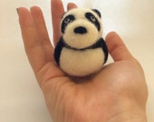 Needle Felted Panda Bear Animal Toy Sculpture