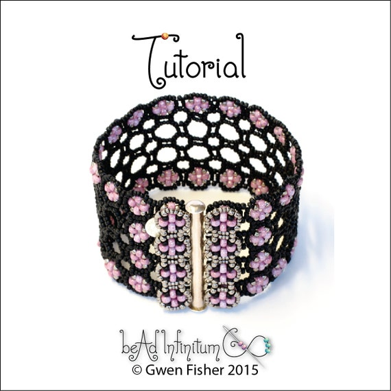 TUTORIAL Book of Kells Bracelet Beaded Angle Weave with Button Clasp