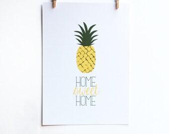kitchen decor, kitchen wall decor, kitchen art, wedding gift, home sweet hom, engagement gift, housewarming gift