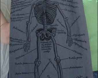 Anatomical Skeleton Jersey Cotton Scarf
