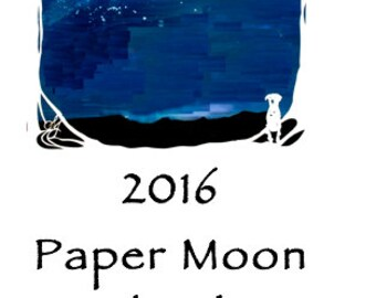 2016 Calendar  - Paper Moon -  kitchen bedside or office - slim - approx 3.75 by 10.75 inches - original papercut designs