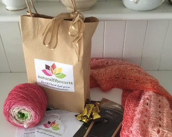 Knitting Kit - Delysia Cowl pattern knitting pattern knitters gift pack