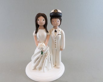 Same Sex Couple Custom Made Military Wedding Cake Topper