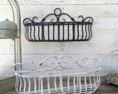 Metal Wall Basket, Kitchen Home Decor, Distressed Black , Fruit Basket, Plant Holder, Zinc Decor, Farmhouse Hanging Basket, Gift for Mom
