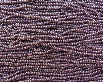 8/0 Opaque Cinnamon Pearl Czech Glass Seed Bead Strand (CW46) SE