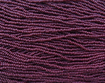 8/0 Opaque Dark Brown Czech Glass Seed Bead Strand (CW72)