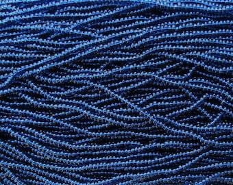 8/0 Transparent Capri Blue Czech Glass Seed Bead Strand (CW88)