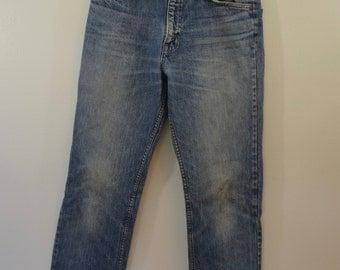 on sale Vintage JC PENNEY denim blue jeans w30 l33 Made In USA 1970's hegay
