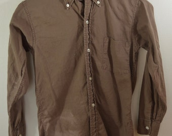 Vintage PENNEY'S GENTRY PREP long sleeve button down shirt size 14 boys 1950's