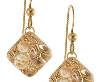 Woven Rain Earrings - Gold