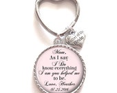 Mother of the Bride Gift, Personalized Keychain, Mother of the Bride Keychain, Wedding Kechain, Style 664
