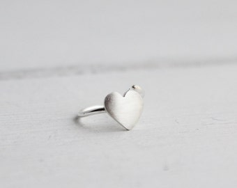 Heart Helix Hoop earring, cartilage piercing, helix earring, hoop earring, gifts under 20, Valentine's day gifts