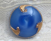 Blue Moonglow with  Gold Luster