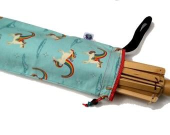 Yarn Swift Cover Yarn Winder Drawstring Padded Bag - Unicorns and Rainbows
