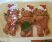 Christmas Bears Craft Kit, Christmas Craft Kits, Felt Kit, The Creative Circle, Joy Bears
