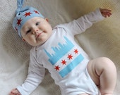 Chicago Skyline Baby Apparel - Short or Long Sleeve