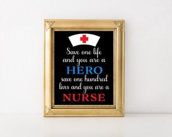 Nurse Gift, Nurse Appreciation Gift, Nurse Thank You Gift, Nursing Wall Art, Nursing Wall Decor,Nursing Graduation Gift,Digital Art