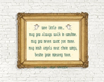 Irish Nursery Blessing, Irish Nursery Decor, Irish Blessing,DIGITAL,YOU PRINT,Irish Newborn Blessing,Newborn Irish Blessing,Newborn Blessing